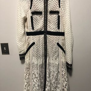 NWT! Anthropologie- Byron Lars White Lace Dress 8